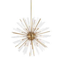 Feiss F3183/41BBS Quorra 41 Light 48 inch Burnished Brass Chandelier Ceiling Light