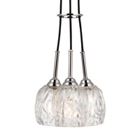 Rubin 3 Light 10 inch Polished Nickel Pendant Ceiling Light