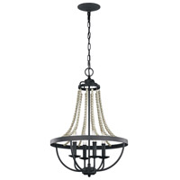 Nori 4 Light 17 inch Dark Weathered Zinc and Driftwood Grey Chandelier Ceiling Light