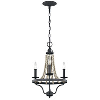 Nori 3 Light 15 inch Dark Weathered Zinc and Driftwood Grey Chandelier Ceiling Light
