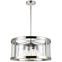 Feiss F3199/4PN Harrow 4 Light 20 inch Polished Nickel Pendant Ceiling Light