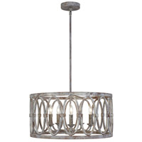 Feiss F3222/5DA Patrice 21 inch Deep Abyss Chandelier Ceiling Light