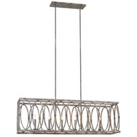 Feiss F3224/6DA Patrice 10 inch Deep Abyss Chandelier Ceiling Light