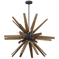 Feiss F3258/8DWZ/WOW Thorne 8 Light 37 inch Dark Weathered Zinc / Weathered Oak Chandelier Ceiling Light