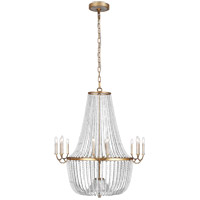 Feiss F3281/12ADB Marielle 12 Light 41 inch Antique Gild Chandelier Ceiling Light