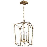 Feiss F3321/3ADB Thayer 3 Light 12 inch Antique Gild Chandelier Ceiling Light