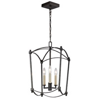 Feiss F3321/3SMS Thayer 3 Light 12 inch Smith Steel Chandelier Ceiling Light
