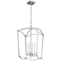 Feiss F3322/4PN Thayer 4 Light 16 inch Polished Nickel Chandelier Ceiling Light