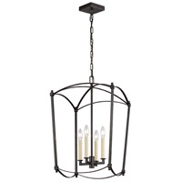 Feiss F3322/4SMS Thayer 4 Light 16 inch Smith Steel Chandelier Ceiling Light