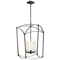 Feiss F3323/5SMS Thayer 5 Light 19 inch Smith Steel Chandelier Ceiling Light