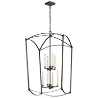 Feiss F3324/8SMS Thayer 8 Light 24 inch Smith Steel Chandelier Ceiling Light