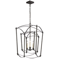Feiss F3327/3SMS Thayer 3 Light 17 inch Smith Steel Chandelier Ceiling Light