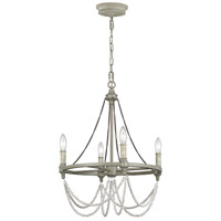 Feiss F3331/4FWO/DWW Beverly 4 Light 18 inch French Washed Oak / Distressed White Wood Chandelier Ceiling Light