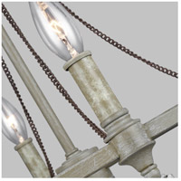 Feiss F3331/4FWO/DWW Beverly 4 Light 18 inch French Washed Oak / Distressed White Wood Chandelier Ceiling Light alternative photo thumbnail