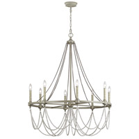 Beverly 8 Light 36 inch French Washed Oak / Distressed White Wood Chandelier Ceiling Light