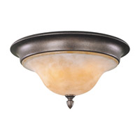 Feiss Tuscan Villa 3 Light Flush Mount in Corinthian Bronze FM221CB photo thumbnail