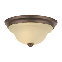Vista 1 Light 11 inch Corinthian Bronze Flush Mount Ceiling Light in Cream Snow Glass