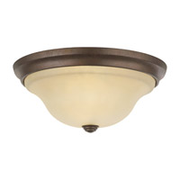 Vista 2 Light 13 inch Corinthian Bronze Flush Mount Ceiling Light in Standard, Cream Snow Glass