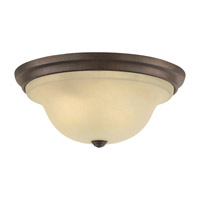 Vista 3 Light 15 inch Corinthian Bronze Flush Mount Ceiling Light in Standard, Cream Snow Glass