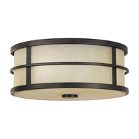 Fusion 2 Light 12 inch Grecian Bronze Flush Mount Ceiling Light in Standard