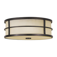 Feiss FM257GBZ Fusion 3 Light 14 inch Grecian Bronze Flush Mount Ceiling Light