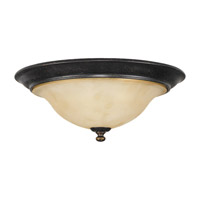 Cervantes 2 Light 14 inch Liberty Bronze Flush Mount Ceiling Light
