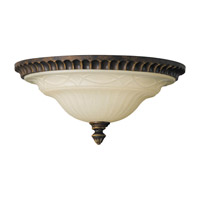 Drawing Room 2 Light 13 inch Walnut Flush Mount Ceiling Light in Standard