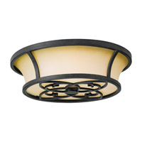 Feiss Kings Table LED Flush Mount in Forged Iron FM276AF-LA