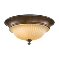 Feiss Somerset 2 Light Flush Mount in British Bronze FM277BRB