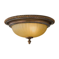 Kelham Hall 2 Light 14 inch Firenze Gold and British Bronze Flush Mount Ceiling Light in Standard