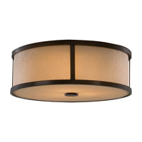 Preston 3 Light 14 inch Heritage Bronze Flush Mount Ceiling Light in Standard