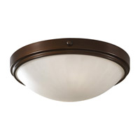 Perry 1 Light 13 inch Heritage Bronze Flush Mount Ceiling Light in Standard