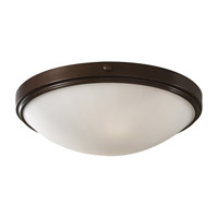 Perry 2 Light 15 inch Heritage Bronze Flush Mount Ceiling Light in Standard
