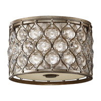 Feiss FM355BUS Lucia 2 Light 12 inch Burnished Silver Flush Mount Ceiling Light in Standard