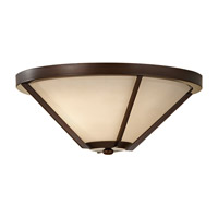 Feiss Nolan 2 Light Flush Mount in Heritage Bronze FM365HTBZ