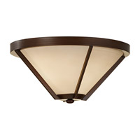 Feiss Nolan 2 Light Flush Mount in Heritage Bronze FM366HTBZ