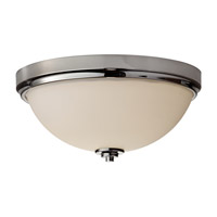 Feiss Malibu 2 Light Flush Mount in Polished Nickel FM372PN