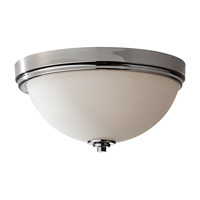 Malibu 3 Light 15 inch Polished Nickel Flush Mount Ceiling Light in Fluorescent