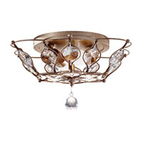 Feiss FM374BUS Leila 2 Light 16 inch Burnished Silver Flush Mount Ceiling Light in Standard