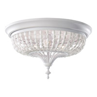 Feiss Maarid 3 Light Flush Mount in White Semi Gloss FM376WSG
