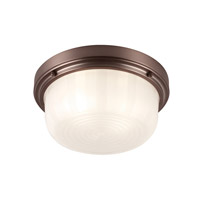 Elliot 2 Light 13 inch Chocolate Flush Mount Ceiling Light