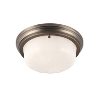 Portia 2 Light 13 inch Satin Bronze Flush Mount Ceiling Light