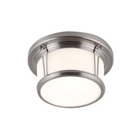 Woodward 2 Light 11 inch Brushed Steel Flush Mount Ceiling Light in Standard