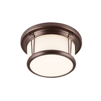 Woodward 2 Light 11 inch Chocolate Flush Mount Ceiling Light in Standard