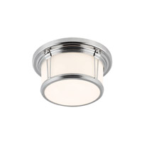 Feiss FM387PN Woodward 2 Light 11 inch Polished Nickel Flush Mount Ceiling Light in Standard