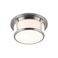 Feiss FM388BS Woodward 2 Light 13 inch Brushed Steel Flush Mount Ceiling Light in Standard