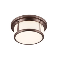 Woodward LED 13 inch Chocolate Flush Mount Ceiling Light in Integrated LED