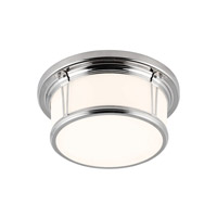 Woodward 2 Light 13 inch Polished Nickel Flush Mount Ceiling Light in Standard