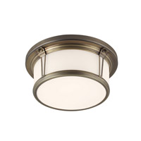 Feiss Woodward 2 Light Flushmount in Satin Bronze FM388SBZ