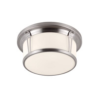 Feiss FM389BS Woodward 3 Light 17 inch Brushed Steel Flush Mount Ceiling Light in Standard